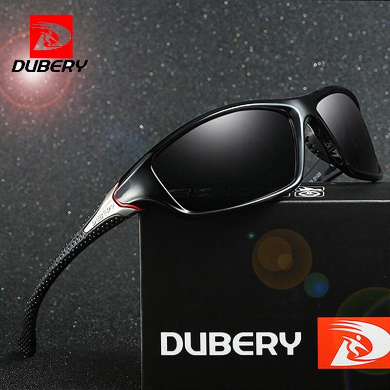 DUBERY 2018 Polarized Sunglasses Men's Retro Male Sun Glasses For Men Brand Mirror Night Vision Aviator Goggles Shades Oculos
