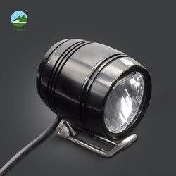 Onature elektryczne światło rowerowe reflektor 100 lux wejście DC 12V 36V 48V 60V aluminium led ebike przednie światła akcesoria rowerowe elektryczne w Akcesoria do rowerów elektrycznych od Sport i rozrywka na