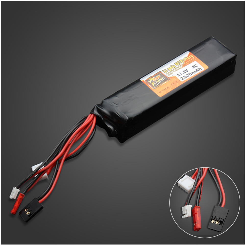 1pcs ZOP Power 11.1V 2200MAH 8C Lipo Battery For Devo JR transmitter Li-poly Battery  wholesale heritage heritage