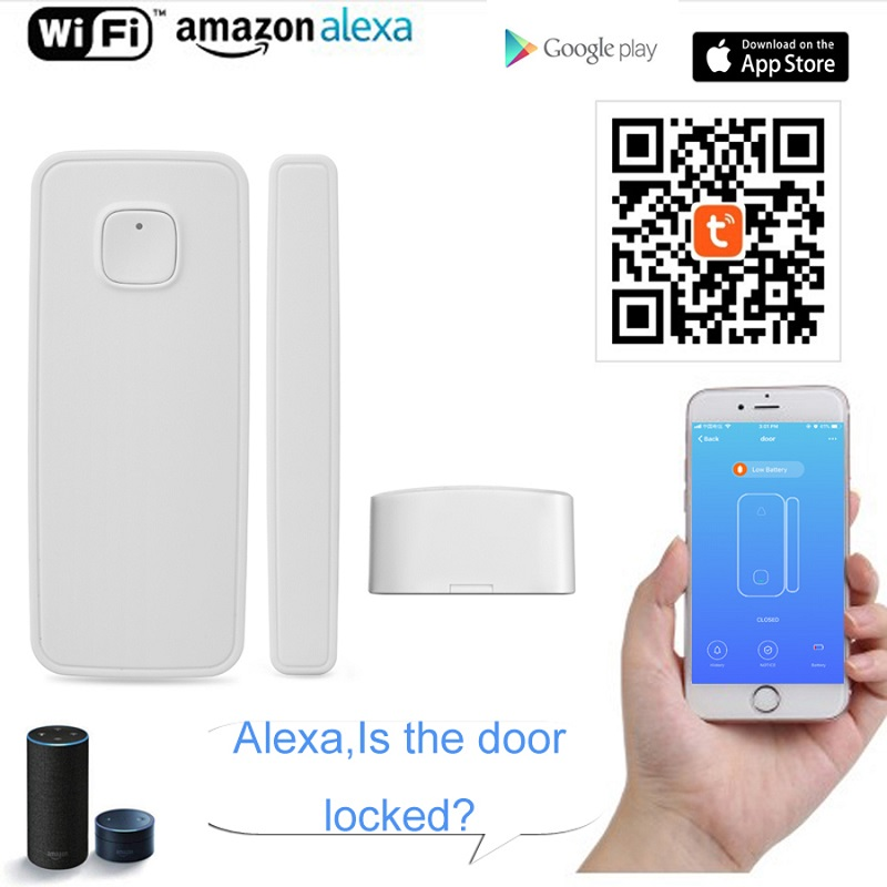 US $14 75 30% OFF Wifi Motion Sensor PIR Smart Remote Control Door Detector  Compatible Alexa Google Home No Hub Required In Android IOS Smartphone-in