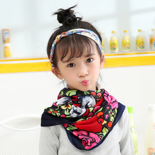 купить 2016 Luxury Brand Scarf Fashion Cotton Floral Shawls and Scarves Girls Floral Bandage Floral Scarves онлайн