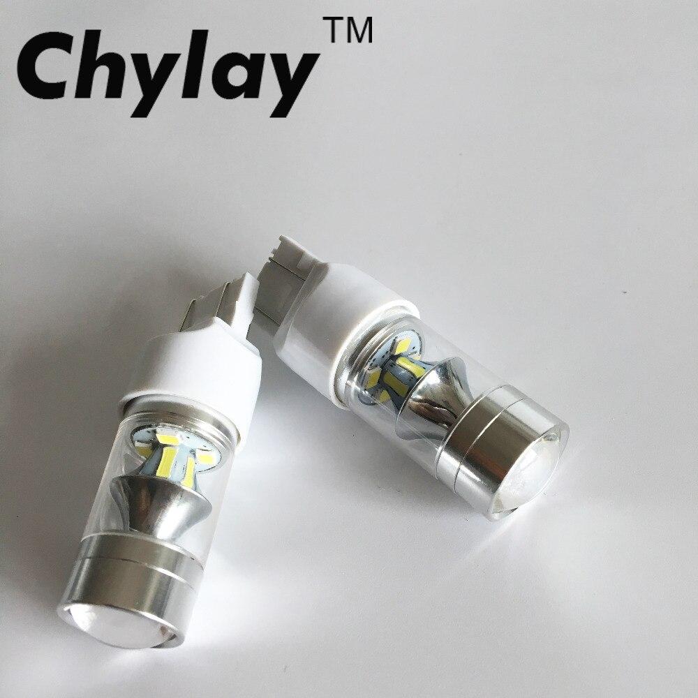 2x 7443 LED Car Brake light 100W High Power Car Reverse Lights Signal Backup DRL Lights