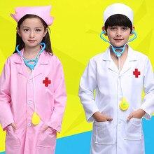 379ea4d50 New Kids Doctor Cosplay Trajes Bebê Meninas Enfermeira Dramatização  Uniformes Desgaste Do Partido do Dia Das Bruxas Fantasia 5 p.