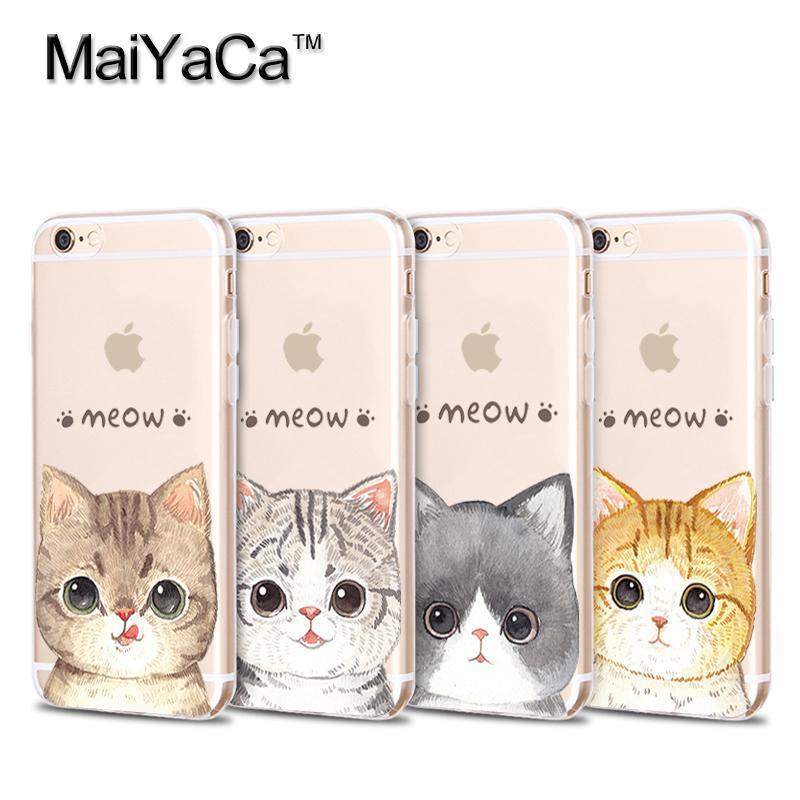 MaiYaCa telefonfodral för iPhone 4s 5s 6s 7 plus mjukt genomskinligt - Reservdelar och tillbehör för mobiltelefoner