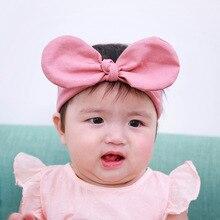 Hot Sale Ear Elastic Headband for Girls Knot Bandage Turban Headbands Headwrap Newborn Baby Headwear Hair Accessories Outdoor
