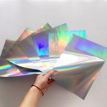 Myfoils-Papel de Estampación en caliente holográfico para impresora láser, pluma de pegamento para estampado, A4, 50 Uds.