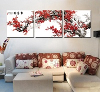 Urijk DIY Modular Spring Flower Oil Painting By Numbers On Canvas Chinese Wall Pictures Frameless Room