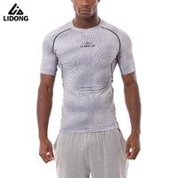 Novo Estilo Dos Homens Do Esporte Meias De Compressão Em Execução de Fitness Gym Musculação T-shirt dos homens Camisas De Basquete Crossfit Sob Tee Tops