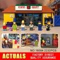 Nueva LEPIN 16004 2232 Unids the Simpsons Acción Modelo de Bloques de Construcción Ladrillos Compatible 71016 para regalo de los niños
