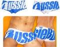2016 nueva marca Aussie hombres sexy boxeador troncos de moda bajo la cintura masculina trajes de baño sexy gay shorts traje de baño libre del envío