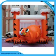Nice designed inflatable tiger bouncer, advertising inflatable jumpers