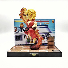 NEW hot 16cm Street Fighter SF Ken Masters luminous A voice Scene version action figure toys