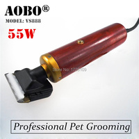 Red&yellow! Professional Pet Trimmer Dog shavers Cattle Rabbits Shaver 55W High Power pet Grooming Electric Hair Clipper Machine