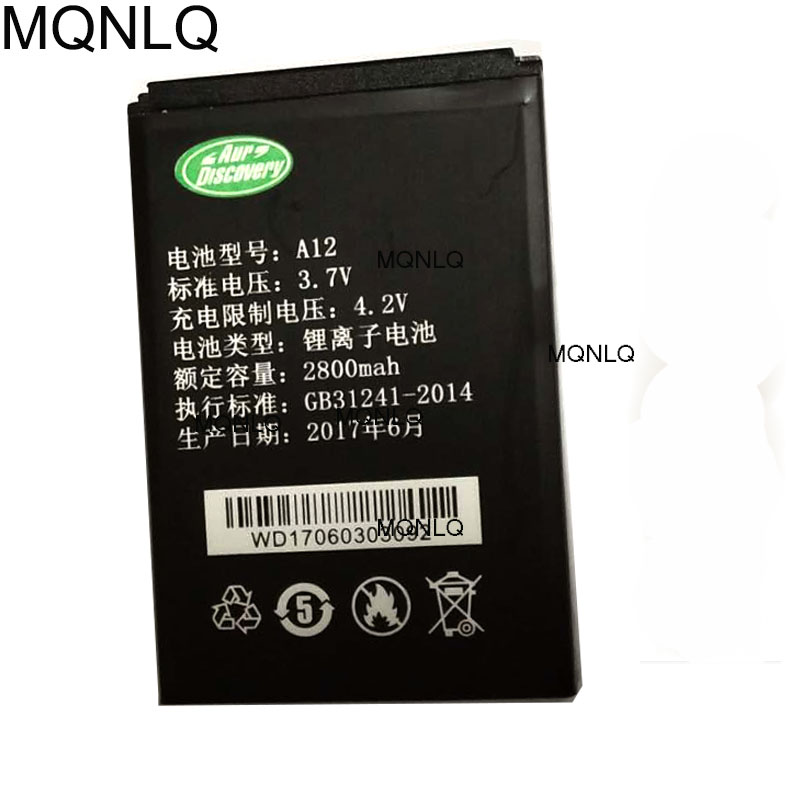 Original for Discovery A12 A12i Battery Mobile Phone Batteries Bateria MQNLQ image