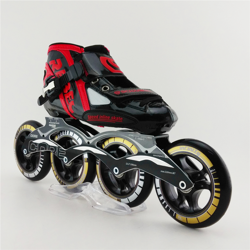 Professional Roller Skates Speed Skating Shoes For Adults , High Quality Children Speed Skate Patins Roller Racing Inline Skates professional adults inline speed skates shoes heelys roller skate carl speed skate patins roller skate