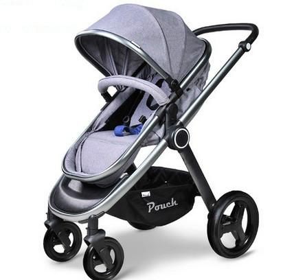 Cochecito de bebé carro cochecito paisaje de alta portátil plegado cesta puede sentarse mentir a los niños