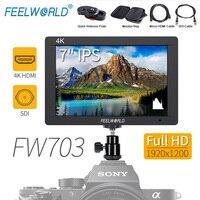 Feelworld FW703 7 дюймов 3G SDI 4 К HDMI Камера поле монитор 7 ips 1920x1200 Full HD ЖК дисплей DSLR монитор для sony Nikon Камера s Rig