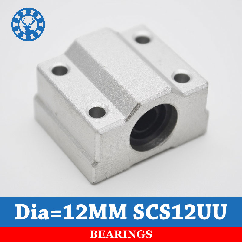 2pcs SC12UU SCS12UU 12mm Linear Motion bearing case unit for cnc router For 12mm Linear Shaft scs35uu 35mm linear motion bearing case unit for cnc router
