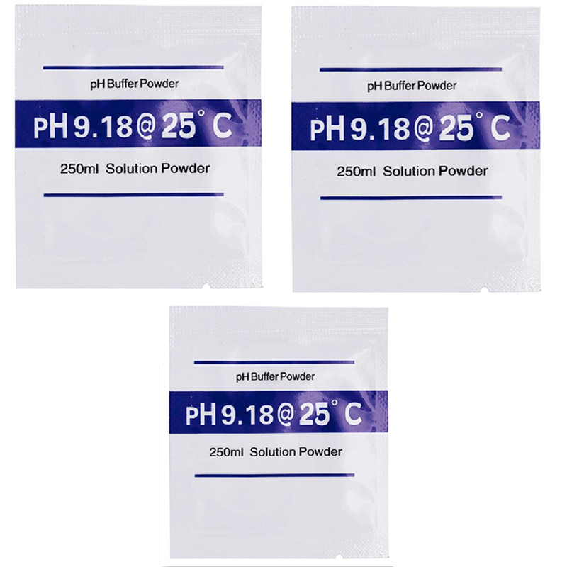 New Arrival 9.18 PH Buffer Powder For PH Test Meter Measure Calibration Solution 4pcs/lot  20%off