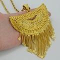 Очень Большой Африка Подвеска ожерелье для Женщин Позолоченные Ожерелья Эфиопии/Нигерия/Конго и Судан/Гана/арабские Ювелирные Изделия #054506