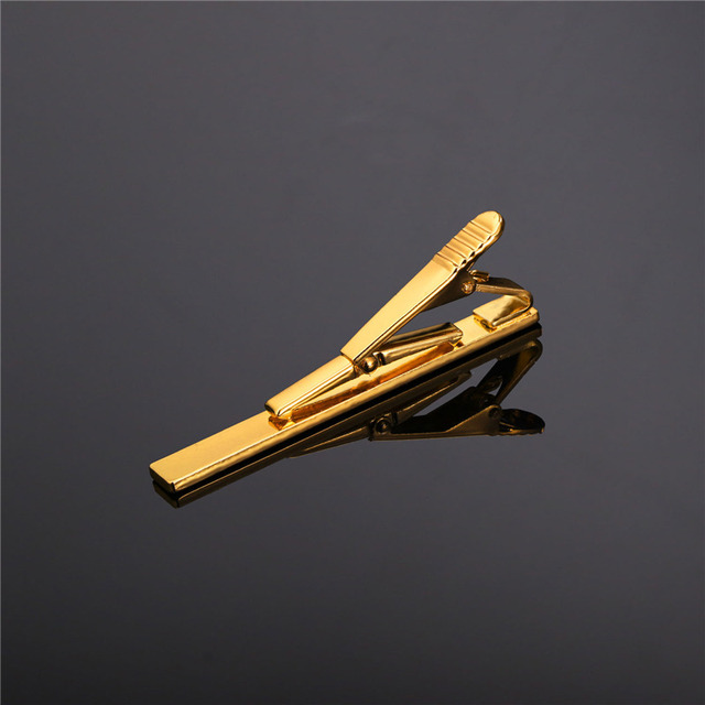 Classic Simple Style Gold/Rose Gold/Black/Silver Tie Clip