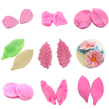 2pcs/Set Multi Style Flower Leaves Peony Rose Lily Petals Silicone Cake Mold Fondant Surgarcraft Decorating Gumpaste Pastry Tool