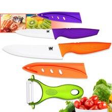 Xyj marca verde utilidad pelador de cuchillos de cerámica de 4 pulgadas 6 pulgadas onda manejar cuchillos de cocina de cerámica de cocina cuchillos de cocina actual