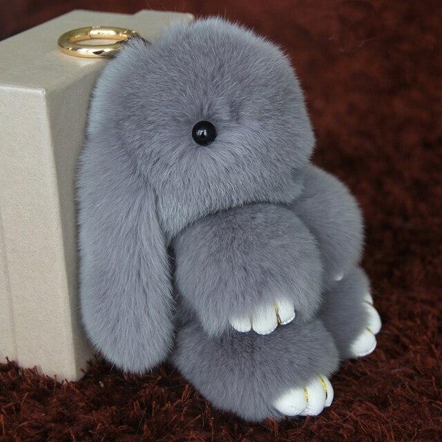 5 Цвет Большой Мех Кролика Брелок Милые Животные Кролик брелок С Черный Камень Глаз Женщины Сумка Подвески Подарок Llaveros K0002