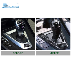 Image 5 - Airspeed couvre pommeau en Fiber de carbone, pour BMW M2 F87 M3 F80 M4 F82 F83 M5 F10 F85 X5M F86 X6M F12 F13, accessoires pour décoration de voiture