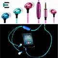 LED Piscando Luz Brilhando fones de ouvido Estéreo Esportes fone de Ouvido Intra-auriculares Fone de Ouvido com Microfone para Android IOS telefone Móvel MP3 MP4