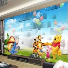 Custom children wallpaper, 3 d cartoon bear children room mural to the sitting room TV wall
