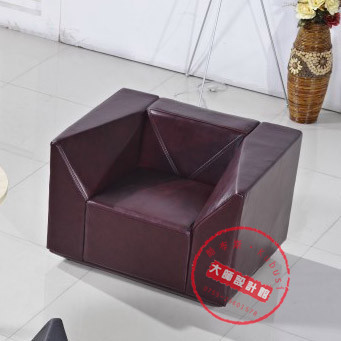 Cool Booth Diamond Sofa Leather Office Reception Villa Living Room Couch Creative