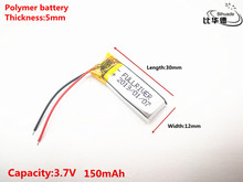 Production of high quality in 2019 051230 501230 150MAH BT150 Bluetooth Headset 3.7V lithium polymer battery 37V