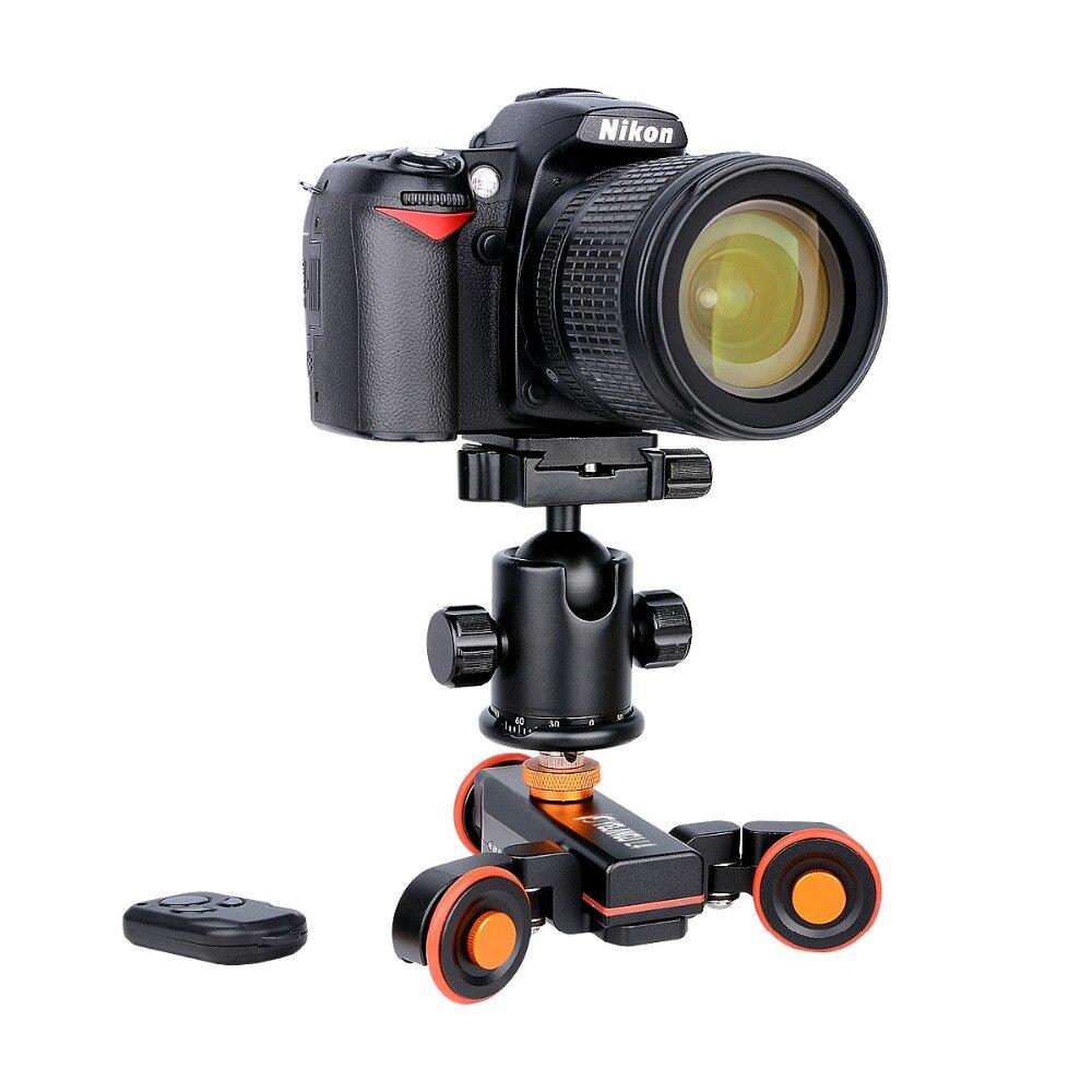 Yelangu L4 DSLR моторизованный Электрический Autodolly удаленного Управление видео рельсовый путь слайдер для Телефон DSLR камера смартфона Gopro