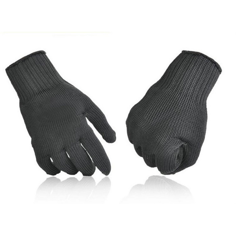 5 Grade Working Safety Anti-Cutting Gloves 1 Pair Cut-Resistant Protective Black Stainless Steel Wire Butcher Gloves Hot Sale original ijoy saber 100 20700 vw kit max 100w saber 100 kit with diamond subohm tank 5 5ml