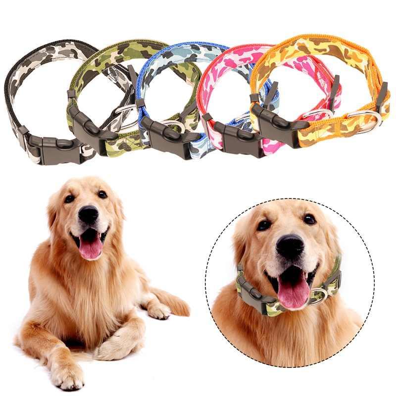 Obroża dla psa regulowany kot obroża dla psów naszyjnik Choker obroża dla małych średnich dużych trakcji dla zwierząt domowych