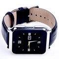W90 bluetooth smart watch smartwatch hombres de cuero de lujo de negocios reloj de pulsera de caballero vista completa pantalla hd para android ios teléfono
