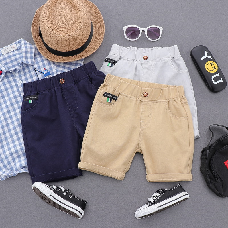 2 8 Yrs Kids Boys Trousers Knee Lenth Shorts Cotton Children Summer Beach Loose Shorts Baby Boy Pants in Shorts from Mother Kids