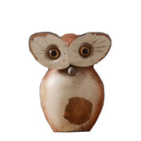 American Vintage Resinous Resins Owl Is Decorated The Soft Adornment Between The Study Model Of Furniture