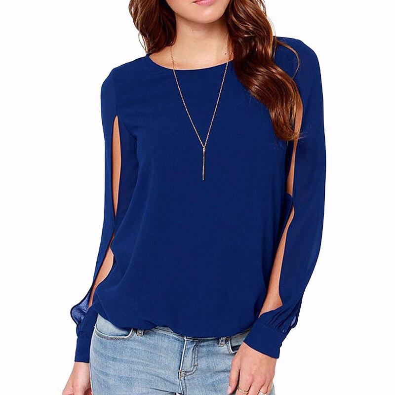MOBTRS New Style T-shirt Female All-Match Women T shirt Chiffon Creative Split Sleeves Womens Plus Size Summer Tops