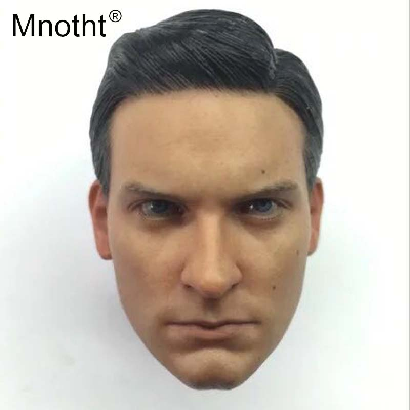 Mnotht 1/6 Scale Spider-Man3 Tobey Maguire Head Sculpt Model Male Solider Head Carving Toys For 12in Action Figure Hobbies m3 dragon 2 0 male action figure model toys 1 6 scale dark light colors solider body model about 25cm for 12 man head sculpts