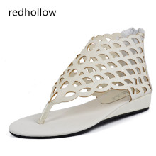 Summer Women Sandals Flats New Fashion Shoes For Women Casual Rome Style Sandalias Beach Sandals Female rome style pom poms and geometric pattern design sandals for women