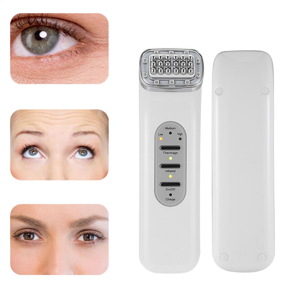 Skin Rechargeable RF Wrinkle Removal Face Lift Massager Radio Frequency Face Care Anti-aging Tightening Tool women face care rf radio frequency face massager deep cleaning skin firming whitening wrinkle removal anti aging beauty instrument