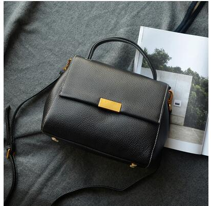 Leather women s bag new single shoulder bag lady s handbag Korean version casual oblique satchel