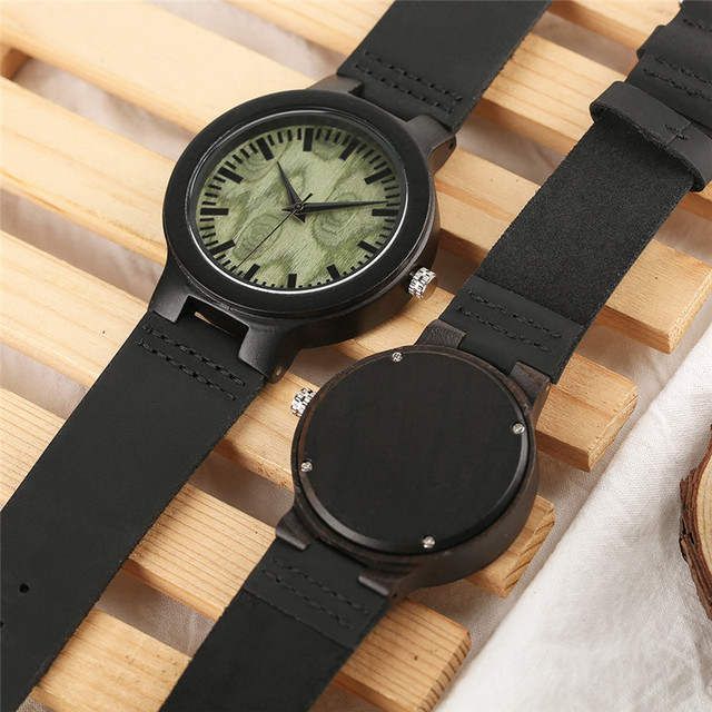 Wooden Lover Quartz Watches Woman Man Genuine Leather Band Couple Watch Anniversary Gifts 4