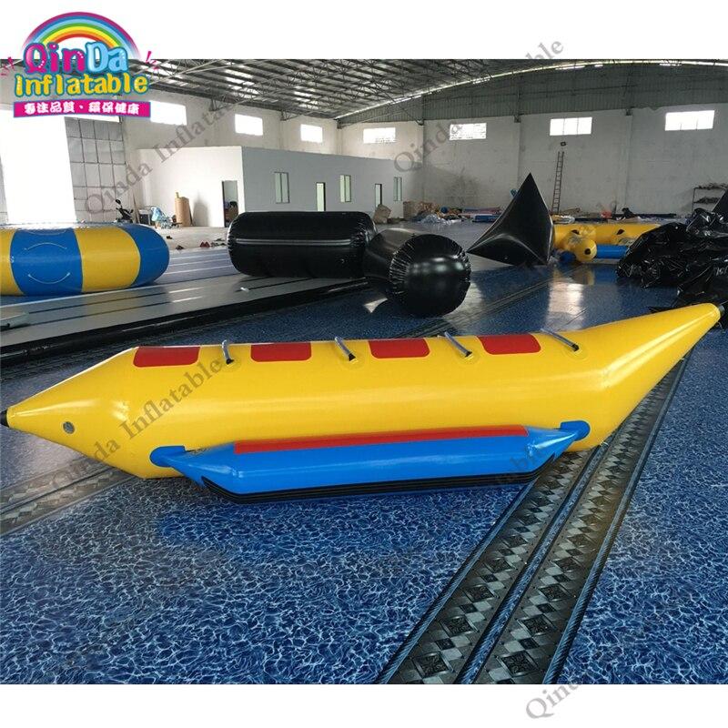 4 personnes volant remorables pour les sports nautiques, tube gonflable bon marché de bateau de banane à vendre