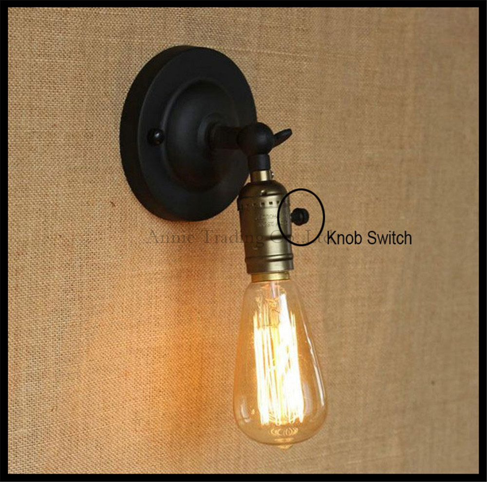 Bedside Wall Sconce With Switch : ??Vintage knob switch Wall ? sconces sconces lamp miniature aisle bed bed balcony cafe home mini ...