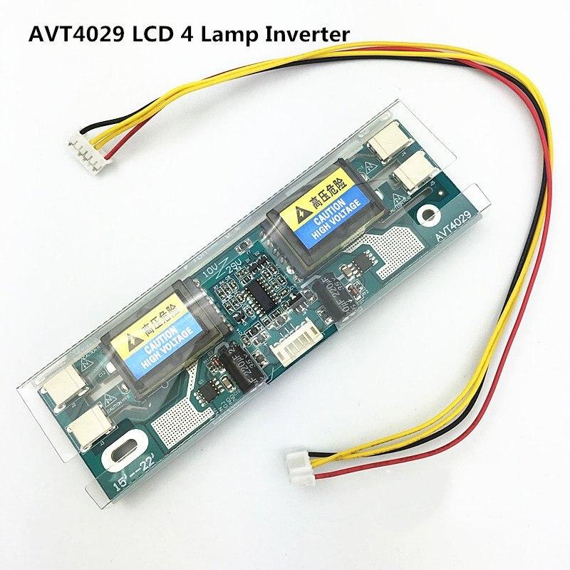 Avt4029 New PC Monitor CCFL 10V-28V Lcd 4 Lamp Universal Lcd Inverter
