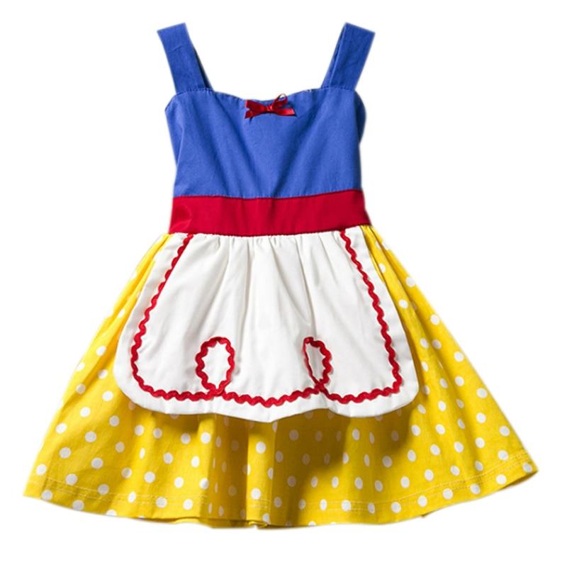 Princess Snow White Dress for Girls Wonderland Halloween Weddings Cosplay Costumes Baby Girls Dresses Toddler Kids Clothes