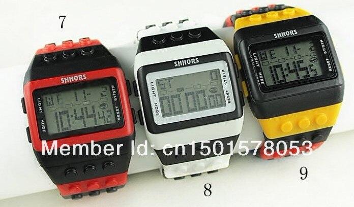 Diligent 10pcs/lot Shhors Rainbow Watch Led Watches Unisex Led Time Display Plastic Belt Shhors Drop Shipping Lover's Watches